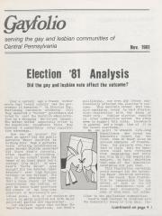 The Gayfolio (MCC Harrisburg) - November 1981