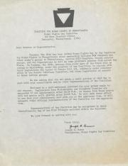 Human Rights Day Announcement and Flyer - May 24, 1977