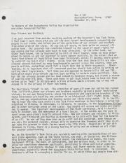 Letter to Susquehanna Valley Gay Organization (SVGU) from Sam Deetz - November 27, 1975