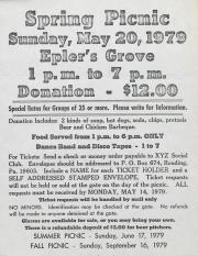Reading Spring Picnic Flyer - 1979