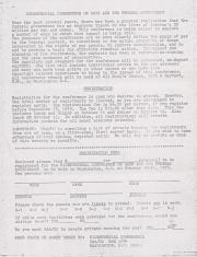 Bicentennial Conference on Gays and the Federal Government Registration and Schedule - October 1975