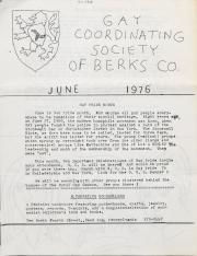 Gay Coordinating Society of Berks County, Reading (GCS Berks) - June 1976
