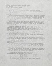 Gay Coordinating Society of Berks County, Reading (GCS Berks) Speakers Bureau Memo - circa 1976