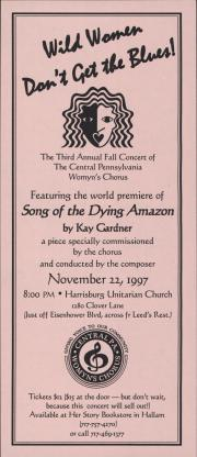 Central PA Womyn's Chorus Concert Flyer
