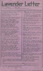 Lavender Letter (Harrisburg, PA) - June 1983