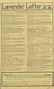 Lavender Letter (Harrisburg, PA) - June 1984