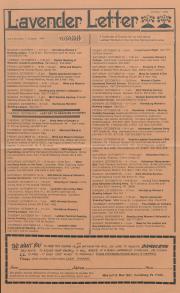 Lavender Letter (Harrisburg, PA) - October 1984