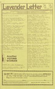 Lavender Letter (Harrisburg, PA) - November 1984
