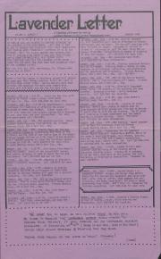 Lavender Letter (Harrisburg, PA) - January 1985