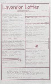 Lavender Letter (Harrisburg, PA) - March 1985