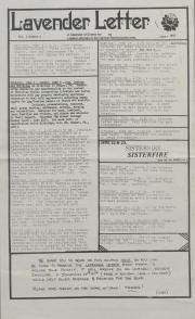 Lavender Letter (Harrisburg, PA) - June 1985