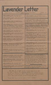 Lavender Letter (Harrisburg, PA) - September 1985