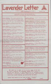 Lavender Letter (Harrisburg, PA) - February 1986