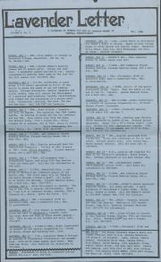 Lavender Letter (Harrisburg, PA) - May 1986