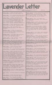 Lavender Letter (Harrisburg, PA) - June 1986