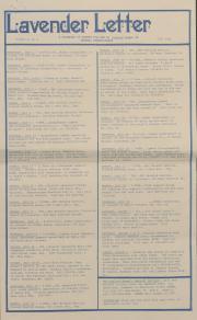 Lavender Letter (Harrisburg, PA) - July 1986