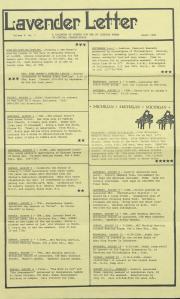 Lavender Letter (Harrisburg, PA) - August 1986