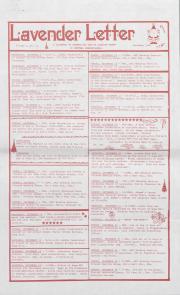 Lavender Letter (Harrisburg, PA) - December 1986