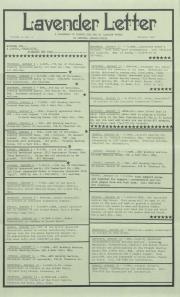 Lavender Letter (Harrisburg, PA) - January 1987