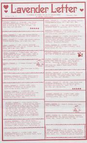 Lavender Letter (Harrisburg, PA) - February 1987