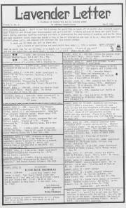 Lavender Letter (Harrisburg, PA) - April 1987