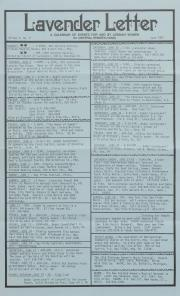 Lavender Letter (Harrisburg, PA) - June 1987