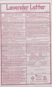 Lavender Letter (Harrisburg, PA) - May 1988