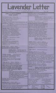 Lavender Letter (Harrisburg, PA) - June 1988