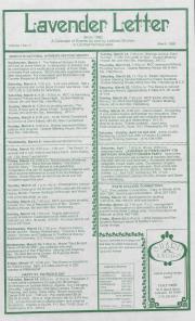 Lavender Letter (Harrisburg, PA) - March 1989
