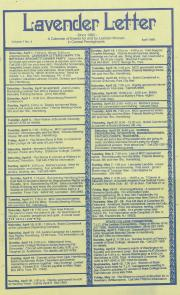 Lavender Letter (Harrisburg, PA) - April 1989