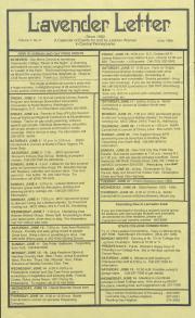 Lavender Letter (Harrisburg, PA) - June 1989