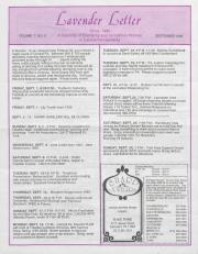 Lavender Letter (Harrisburg, PA) - September 1989