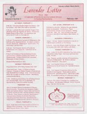Lavender Letter (Harrisburg, PA) - February 1991