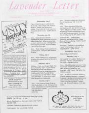Lavender Letter (Harrisburg, PA) - July 1991