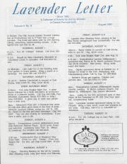 Lavender Letter - August 1991