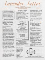 Lavender Letter (Harrisburg, PA) - October 1991
