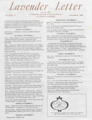 Lavender Letter (Harrisburg, PA) - November 1991