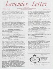 Lavender Letter (Harrisburg, PA) - December 1991