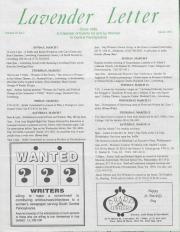 Lavender Letter - March 1992