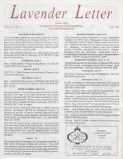 Lavender Letter (Harrisburg, PA) - July 1992