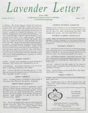 Lavender Letter - August 1992