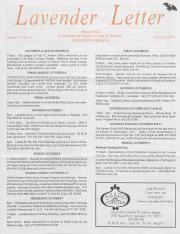 Lavender Letter (Harrisburg, PA) - October 1992