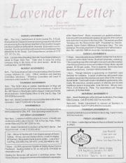 Lavender Letter - November 1992