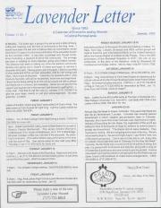 Lavender Letter (Harrisburg, PA) - January 1993