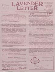 Lavender Letter (Harrisburg, PA) - February 1993
