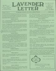 Lavender Letter - March 1993