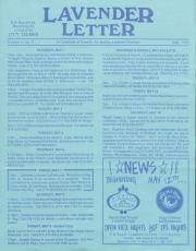 Lavender Letter - May 1993