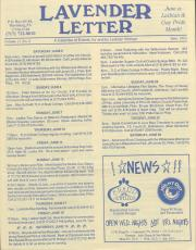 Lavender Letter - June 1993