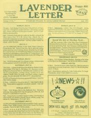 Lavender Letter - July 1993
