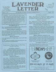 Lavender Letter - August 1993